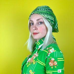 Vintage 60s op art headscarf retro bandana hippie